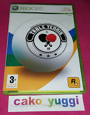 TABLE TENNIS XBOX 360 TRES BON ETAT VERSION 100% FRANCAISE