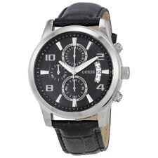 Guess Black Dial Mens Chronograph Watch W0076G1