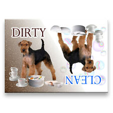 Welsh Terrier Clean Dirty Dishwasher Magnet New Dog