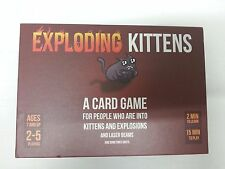 Exploding Kittens Card Game Family Friends Birthday And Child Fun Red