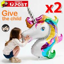 2x UNICORN FOIL BALLOON FANTASY HORSE GIRLS BIRTHDAY CHRISTMAS X'MAS PARTY