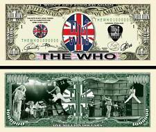 The WHO - BILLET MILLION DOLLAR US! PETE TOWNSHEND KEITH MOON Collection Rock UK