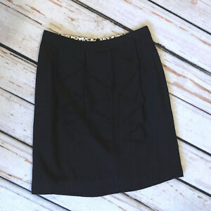 Size 2 - ANTHROPOLOGIE Odille Black Waterfall Ruffled Pencil Skirt