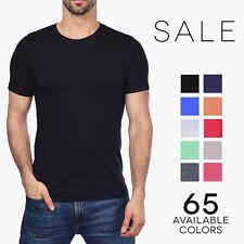 Bella + Canvas Men's Jersey Crew T-Shirt Premium Fit Basic Plain Tee Shirt 3001