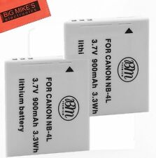 BM 2-Pack of NB-4L Batteries for Canon PowerShot SD1100 IS SD1400 IS