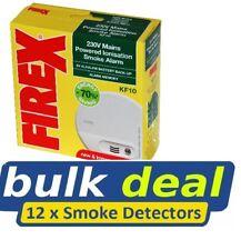 12x Kidde Firex KF10 Ionisation Smoke Detectors Mains / Hard Wired Alarms