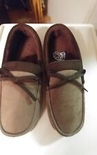 MEN'S STAFFORD  MEMORY FOAM MOCCASIN TAUPE SLIPPERS SIZE  XL(11-12)
