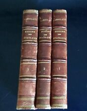 Three French Antique Books – History of the United States (in French) 1867
