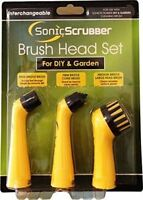 Sonic Scrubber Brush Head Set - 3 Pack of Replacement Cleaning Brushes