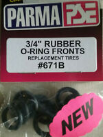 """PARMA # 671B NEW O-Ring Fronts - 3/4"""" - 6 Pair - Rubber replacement Front Tires"""