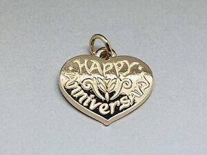 James Avery 14k Happy Anniversary Heart Charm