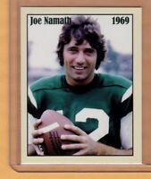Joe Namath, '69 New York Jets - rare limited edition NYC cab card