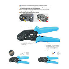 Ratchet Crimper Cable Wire Terminals Electrical Adjustable Plier Strippers Tools