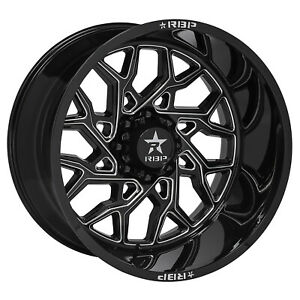 RBP 80R Scorpion 20x10 Black Milled Wheel 8x165.1 -44 set of 4 Dodge Ram