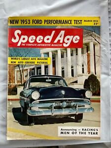 VINTAGE SPEED AGE   HOT ROD MAGAZINE MARCH   1953  NEWS STAND