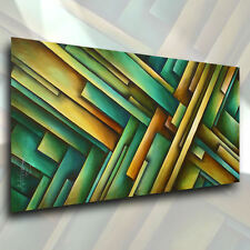 Géométrique Abstrait Peinture Contemporain Original Art Décor Mélange Lang