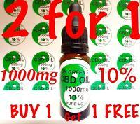 Dr GREEN'S CBD OIL 10ml  1000mg 10% Pure Vegetable Glycerine carrier oil