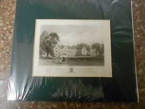 AN ANTIQUARIAN LITHOGRAPHICAL PRINT 'WEST HORSLEY PLACE' 'Rev CHAS H J WESTON'