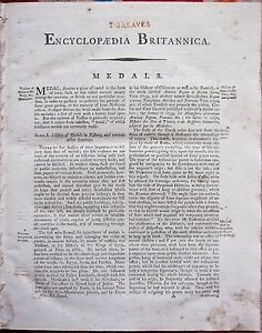 1797 GEORGIAN TREATISE/ARTICLE on MEDALS ~ ANCIENT COINS HISTORY VALUE USE etc