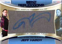 TNA Jeff Hardy 2012 Reflexxions BLUE Autograph Ring Mat Relic Card SN 10 of 25