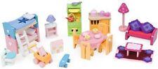 Le Toy Van Deluxe Starter Set di mobili in legno Doll House NUOVO con confezione