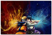 Naruto Shippuden Naruto VS Sasuke Anime Game Art Silk Poster Decor 24x36inch