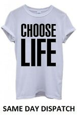 Choose Life T Shirt Wham! Tee 80's Fancy Dress George Top Michael Mens Womens