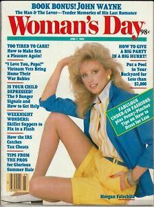 Woman's Day Magazine June 7 1983 Morgan Fairchild John Wayne Fashions Food Kids