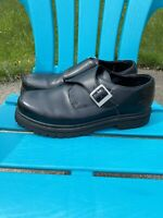 Skechers CASUALOFFICE Shoes Mens Size 13M Black Leather Monk Strap Oxford SN6649