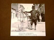 Moda e costume in Italia negli anni '30 Velocipede con Re Savoia Duce Mussolini