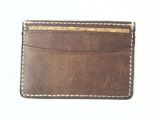 Patricia Nash Mini Wallet ID/Credit Card Holder Tuscan Brown Leather $38 New
