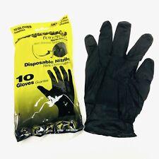 Black Mamba Torque Grip Super Strong Mechanics Workshop Nitrile LARGE Gloves 10