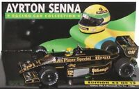MINICHAMPS 854312 864312 LOTUS JPS F1 model car or Certificate Ayrton Senna 1:43