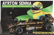 MINICHAMPS 854312 864312 LOTUS JPS F1 model car or Certificate Ayrton Senna 1:43