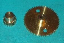 meccano laiton très beau lot roue et pignon 56/20 dents No27aobs + No26obs