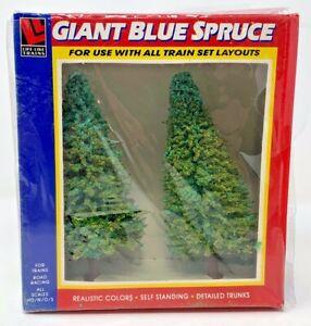 NEW!! Life-Like Trains - 2 Giant Blue Spruce Trees #1010