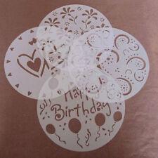 4stk verschiedene Muster Backformen aus Plastik rund Kuchen Torte Fondants Dekor