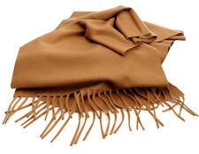 100% Vikunja Vicuna Prestige Luxus Schal Peru 180 x 29 cm Braun Natur