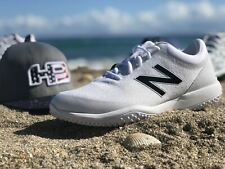 New Balance Men's T4040v5 Baseball and Softball Turf: White on White
