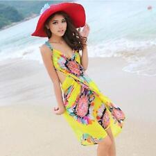 Sexy Women Ladies Chiffon Summer Sunflower Wrap Sarong Dress Beach Shawl Wrap LG