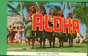 "Hawaii International Carte Postale non Utilisé - Kodak Hula Show À Waikiki """