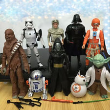 9PCS/Set Star Wars Figure Action Doll Collection Stormtrooper Yoda Black knight