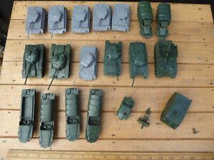 Vintage HO/OO Airfix Vehicles  x20- German Tiger + Panther Tanks / Centurion etc