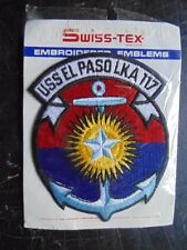INSIGNE TISSU PATCH US NAVY USS EL PASO LKA 117 / SWISS-TEX / MARINE USA