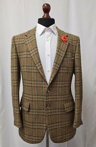 Men's Vintage 1970's Harbarry Tweed Jacket Blazer Checked 40R