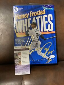 Ken Griffey Jr Signed Honey Frosted Wheaties Cereal Box JSA Cert