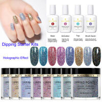 12Bottles BORN PRETTY Dipping Powder Liquid Nail Starter Kits Holographic Effect