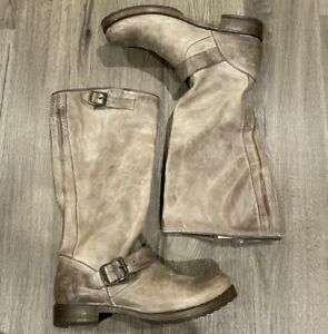 Frye Distressed Learher Boots- Size 6