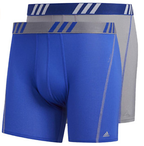 Men adidas Performance Mesh Climacool (Blue-Gray) Boxer Brief (2-Pack)Underwear