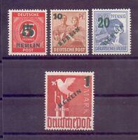 Berlin 1949 - Aufdruck - MiNr. 64/67 postfrisch geprüft - Michel 250,00 € (434)